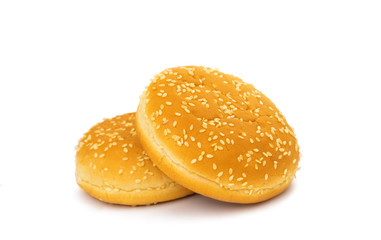 hamburger buns isolated