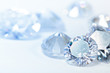 White diamonds on blue background - 58570479