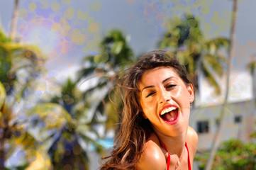 donna sorridente a punta cana