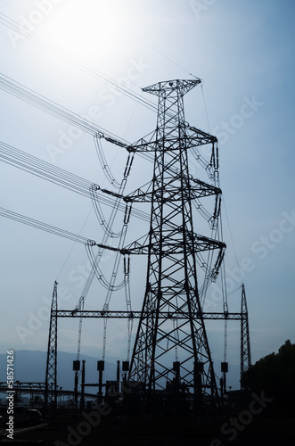 Power Substation Silhouette