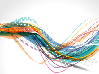 Vector Colorful Wave Background