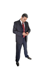 Businessman with cell phone.