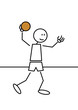 Stick figure handball