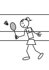 Stick figure badminton