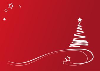 Weihnachten Sterne Karte rot schlicht