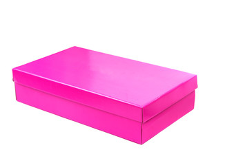pink box isolated