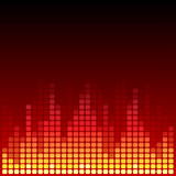 Red and orange digital equalizer vector background