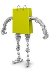 Пакет для покупок в виде робота