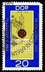 GDR stamp, volleybal world cup in 1969