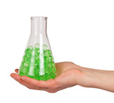 Green hydrogel in a bulb poster