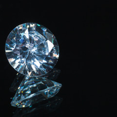 Round shiny diamond