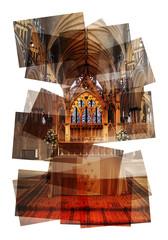 church altar collage