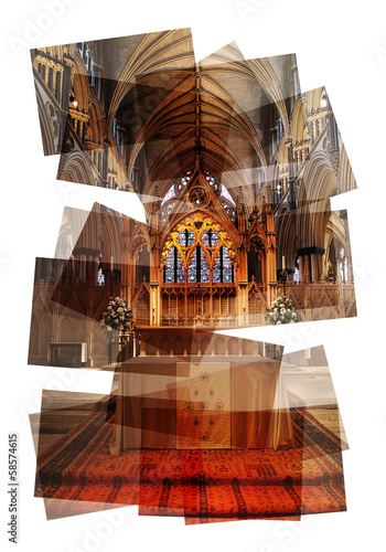 church altar collage