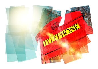 phone box collage