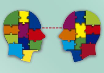 cabezas puzzle mirada