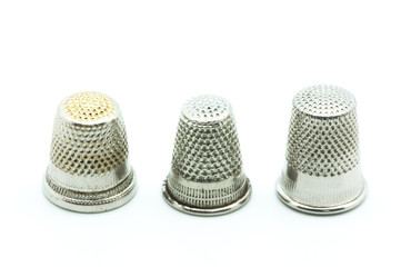 thimble on a white background