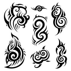 Tribal tattoo set.