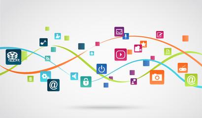 Internet application background