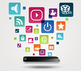 Internet application concept background
