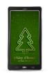Mobile with green Christmas tree