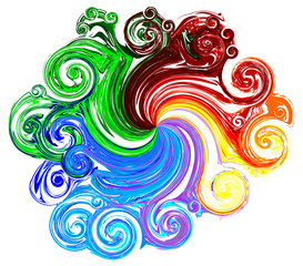 Colorful Swirl,Vector