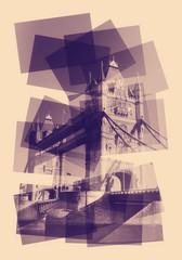 tower bridge collage