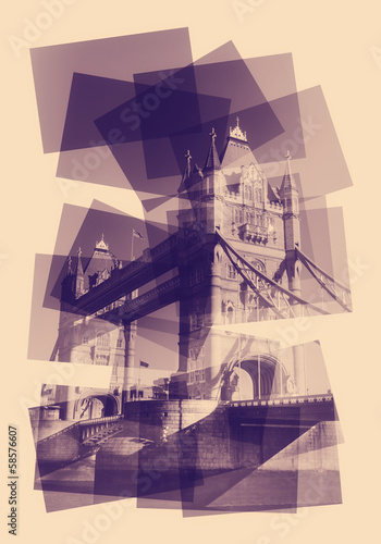 tower bridge collage