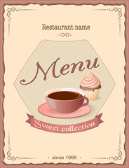 sweet menu with coffee