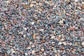 Gray gravel texture as background