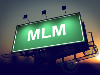 MLM - Billboard on the Sunrise Background.