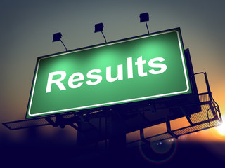 Results - Billboard on the Sunrise Background.