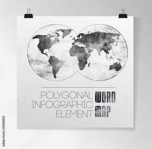 World Map and typography