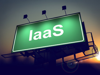 IAAS - Billboard on the Sunrise Background.