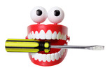 Chattering Teeth Toy with Screwdriver