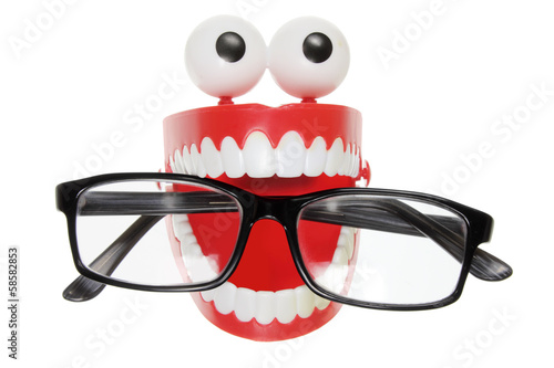 Chattering Teeth with Eyeglasses