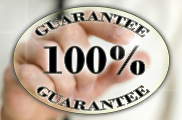 100 percent guarantee icon