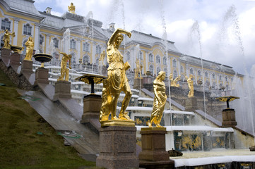 the Grand Cascade. Peterhof.