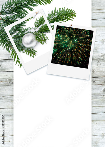 Frohe Festtage, Weihnachten, Silvester, Karte, Plakat