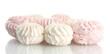 Marshmallows isolated on white