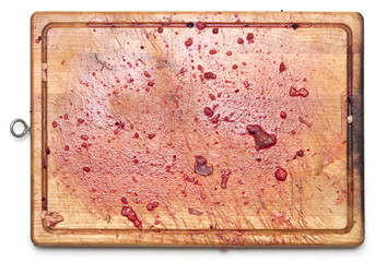 bloody on the cutting board