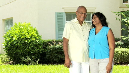 Loving Ethnic Married Couple Retirement Home