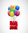 big sale balloon banner sign illustration design