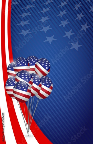 usa graphic. american flag balloon flag background
