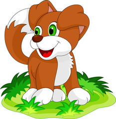 Cute puppy cartoon