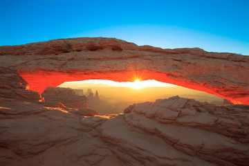 Mesa Arch Cnyonlands National Park sunrise.