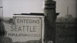Visiting Seattle Washington On Driving Trip-1940 Vintage 8mm