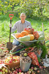 man with  harvest