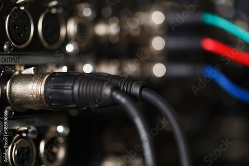 Audio XLR cables in the pro recorder.