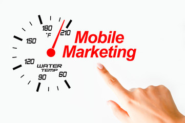 Mobile marketing concept