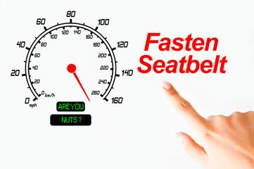 Fasten seatbelt concept